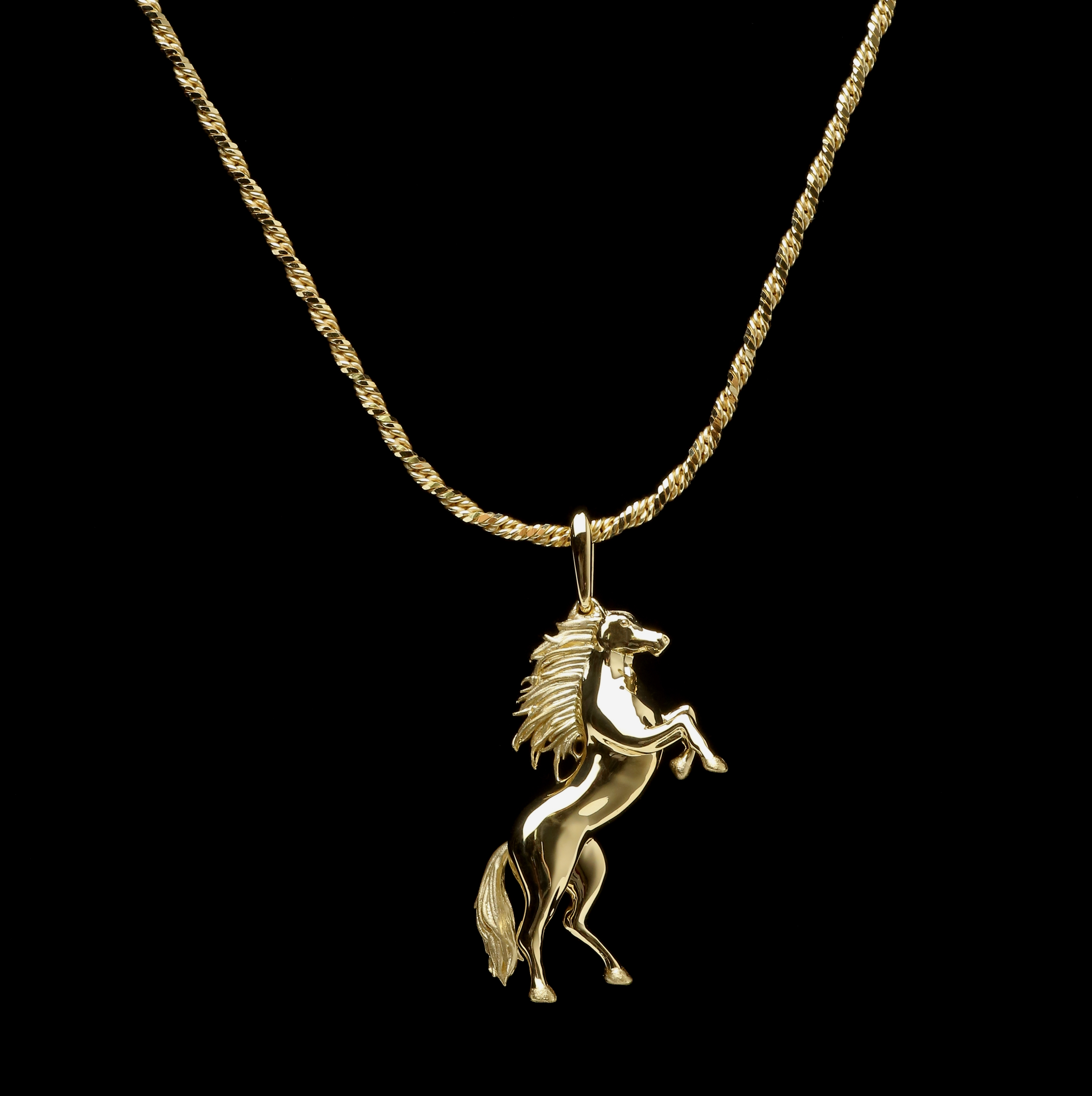 Horse k18 pendant the class jewelry horse k18 pendant mozeypictures Gallery